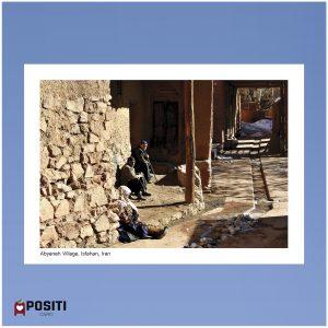 Iran Abyaneh Village postcard