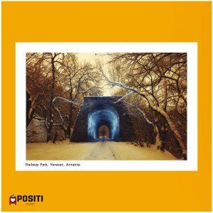 Armenia Railway Park Yerevan postcard