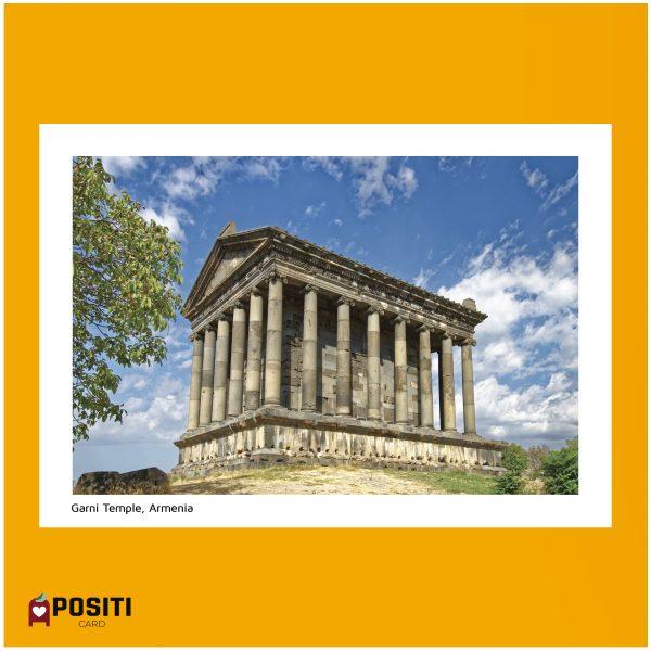 Armenia Garni Temple postcard