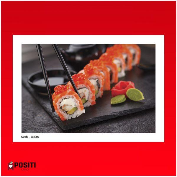 Japanese Sushi postcard
