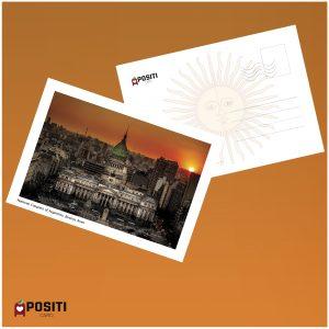 Argentina National Congress building postcard