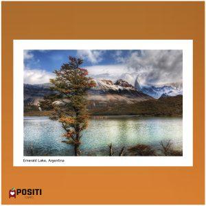Argentina Emerald lake postcard