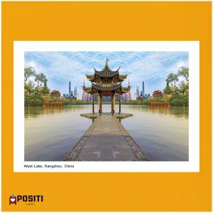 China West Lake postcard