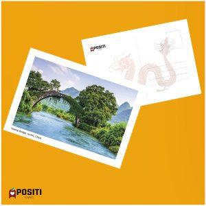China Yulong Bridge postcard